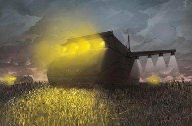 Dystopian Farm Robots
