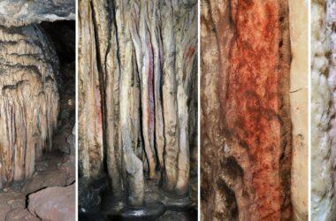 Flowstone Formation in Sala De Las Estrellas at Cueva De Ardales