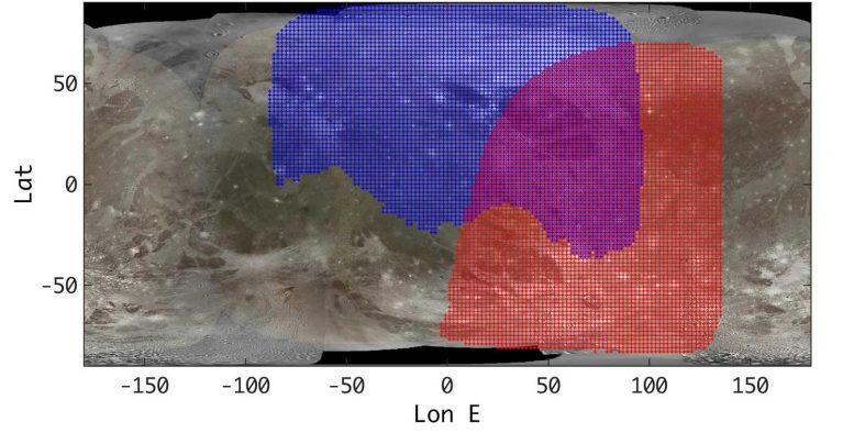 Ganymède Surface Juno JIRAM