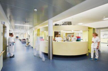 Busy Hospital Floor