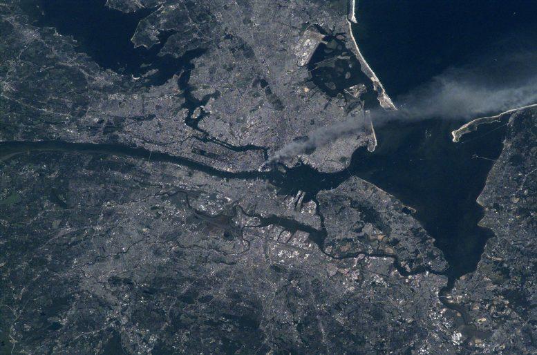 Panaches de fumée de Manhattan 9/11