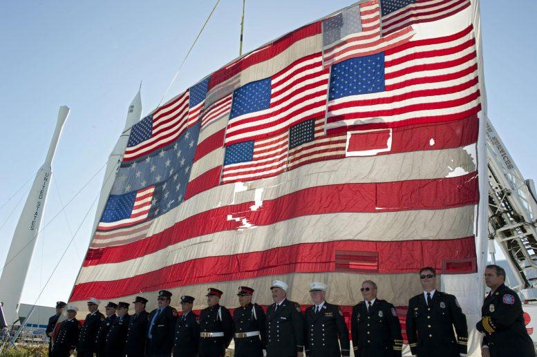 Jardin des fusées du drapeau national du 11 septembre