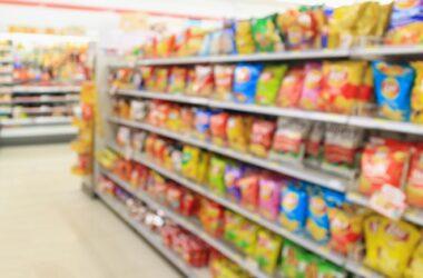 Processed Food Aisle Supermarket