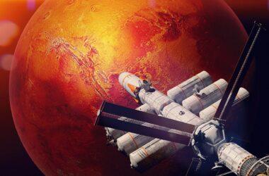 Spaceship to Mars Illustration