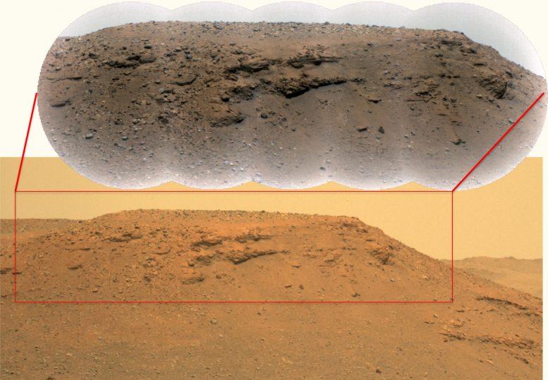 L'escarpement du delta du cratère de Mars Jezero