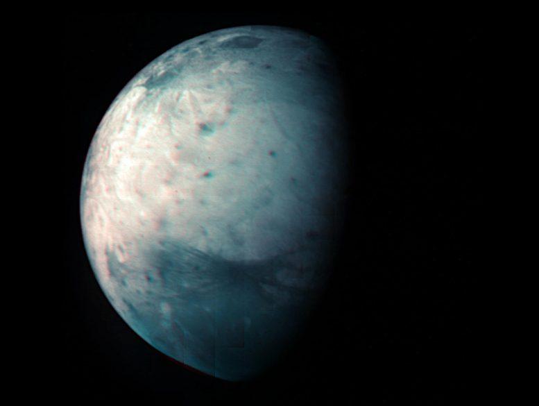 Lune glacée de Jupiter Ganymède infrarouge