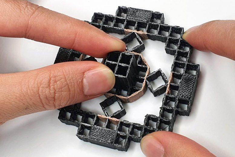 Structures imprimées en 3D composées de cellules répétitives