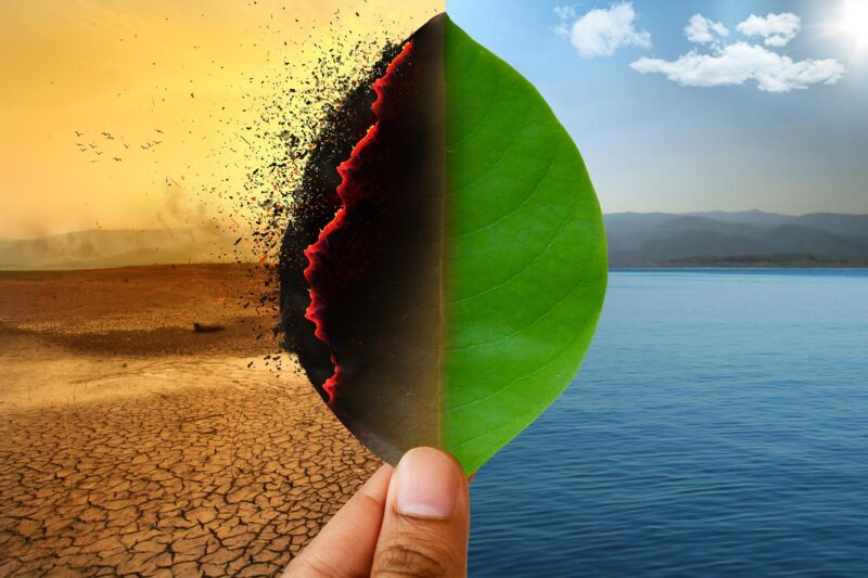 Global Warming Climate Change Artists Concept