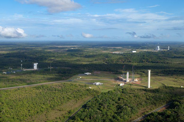 Zones de lancement Vega Ariane 5 et Ariane 6 au port spatial européen
