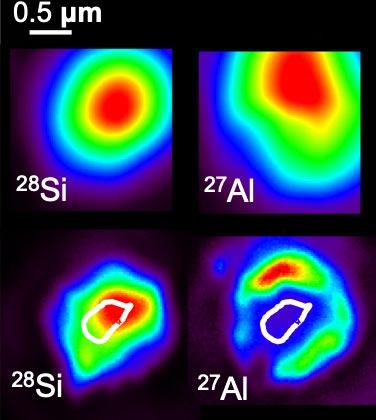 Images NanoSIMS à grains SiC