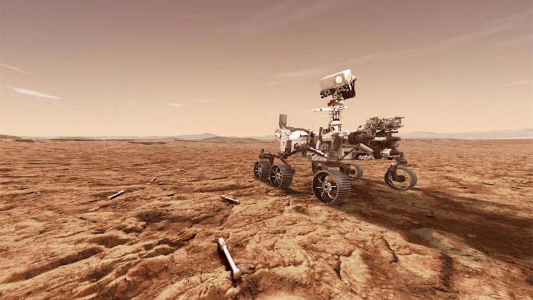 Tubes de retour d'échantillons Mars 2020 Rover