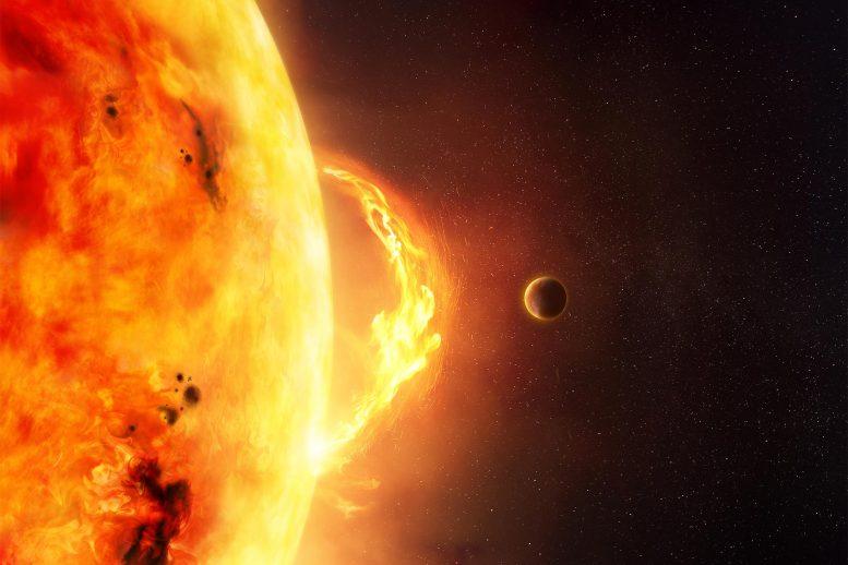 Planète près de l'étoile