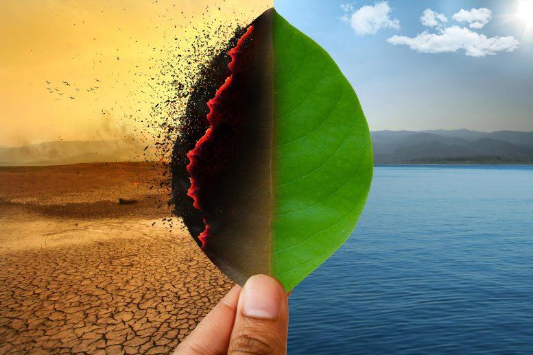 Concept d'artistes de changement climatique de réchauffement global