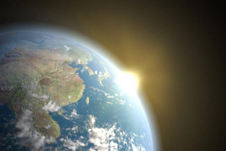 Illustration de l'effet de serre de la terre